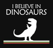 I Believe In Dinosaurs title artwork by jezkemp