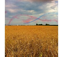 Planes flying over fields Photographic Print