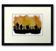 Soldiers dusk Framed Print