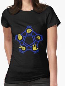 Rock Paper Scissors Lizard Spock Tshirt Womens Fitted T-Shirt