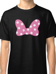 Polka Dot Bow - Pink Classic T-Shirt