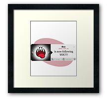 Boo Is Following You Framed Print