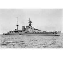 HMS Hood Battlecruiser Photographic Print