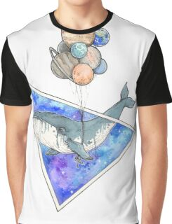 Whale with balloons in the sky Graphic T-Shirt