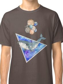 Whale with balloons in the sky Classic T-Shirt