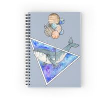 Whale with balloons in the sky Spiral Notebook