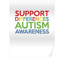 Support Differences Autism Awareness Poster