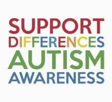 Support Differences Autism Awareness by DesignFactoryD