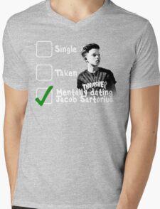 Mentally Dating Jacob Sartorius Mens V-Neck T-Shirt