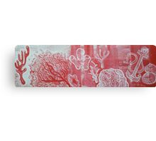 Red Coral Print Canvas Print