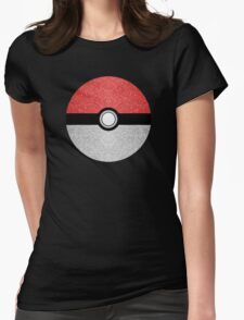 Sparkly red and silver sparkles poke ball Womens Fitted T-Shirt