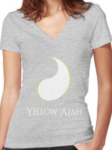The Yellow Ajah Women's Fitted V-Neck T-Shirt