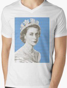 God Save The Queen - Blue Mens V-Neck T-Shirt