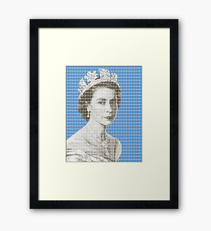 God Save The Queen - Blue Framed Print