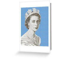 God Save The Queen - Blue Greeting Card