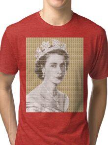 God Save The Queen - Gold Tri-blend T-Shirt