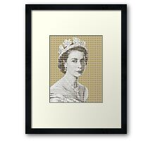 God Save The Queen - Gold Framed Print