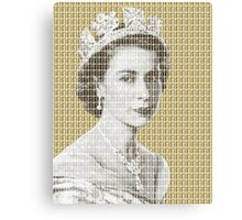 God Save The Queen - Gold Canvas Print