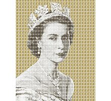 God Save The Queen - Gold Photographic Print