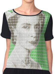 God Save The Queen - Green Chiffon Top