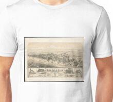 Vintage Pictorial Map of Sea Isle City NJ (1885) Unisex T-Shirt