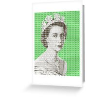God Save The Queen - Green Greeting Card