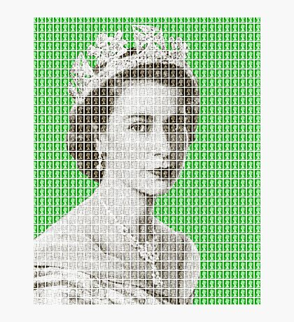 God Save The Queen - Green Photographic Print