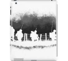 Soldiers greyscale iPad Case/Skin