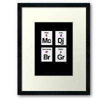 The Four Elements of Hip Hop Framed Print