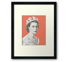 God Save The Queen - Orange Framed Print