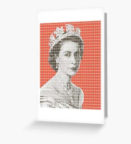 God Save The Queen - Orange Greeting Card