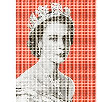 God Save The Queen - Orange Photographic Print