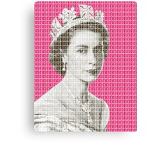 God Save The Queen - Pink Canvas Print