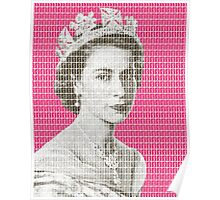 God Save The Queen - Pink Poster