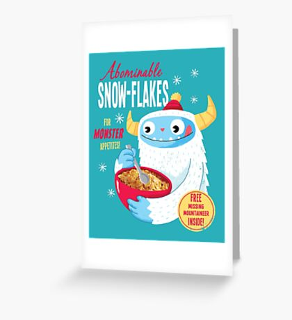 Abominable Snowflakes Greeting Card