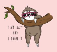 I am lazy and I know it Kids Clothes