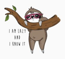 I am lazy and I know it Baby Tee