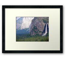 Yosemite Bridal Veil Fall Framed Print