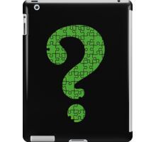 Riddler's Puzzle iPad Case/Skin