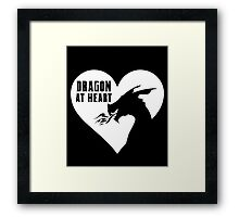Dragon at Heart - Fantasy Framed Print