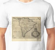 Vintage Map of South America (1700) Unisex T-Shirt