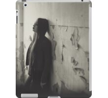 a lonely woman  and sad iPad Case/Skin