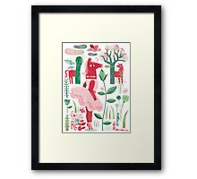 Horses are red Framed Print
