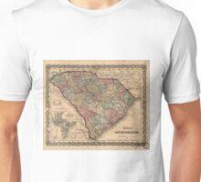 Vintage Map of South Carolina (1865) Unisex T-Shirt