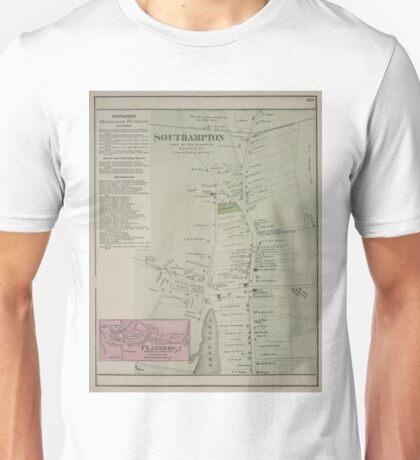 Vintage Map of Southampton New York (1873) Unisex T-Shirt