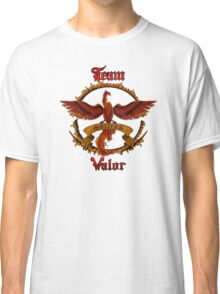 Valor Team Red Pokeball flag emblem Classic T-Shirt