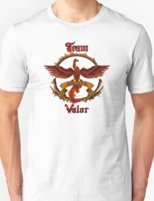 Valor Team Red Pokeball flag emblem Unisex T-Shirt