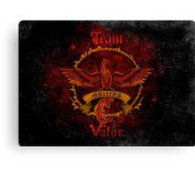 Valor Team Red Pokeball flag emblem Canvas Print