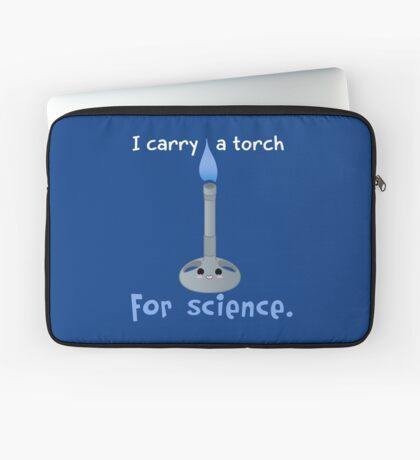Carry a Torch for Science Laptop Sleeve