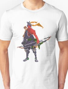 Red Hanzo Pixel Unisex T-Shirt